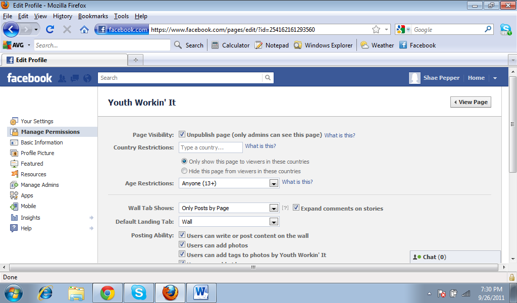 how to make a youth group facebook page